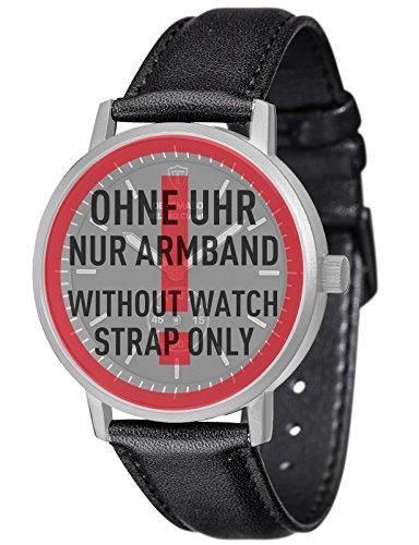 DETOMASO Milano Classic 20 mm Uhren-Armband Schwarz Leder Schwarze Edelstahl-Schließe Schnellwechsel-Federsteg Neu AB_028