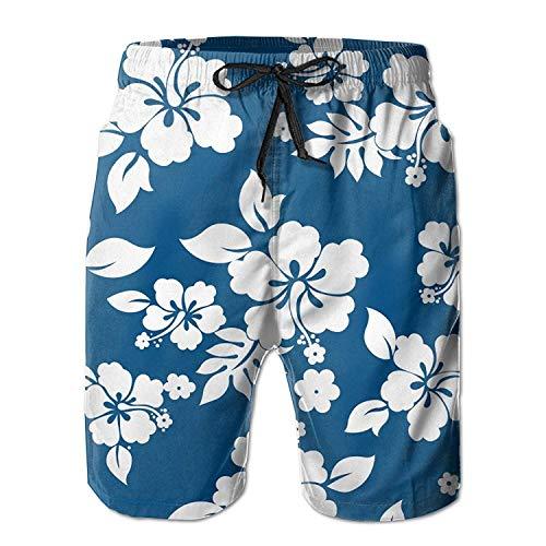 OQUYCZ Personality Beach Shorts Trucks Pants Men's Aloha Hawaiian Floral Quick Dry Swim Trunks Casual Beach Board Shorts - Aloha Pants