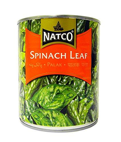 Natco - Feuilles d'épinard - lot de 2 boîtes de 765 g