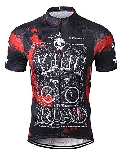 STRGAO New Sommer Herren Männer Kurze Hülse Zyklus Jersey Kurzarm Fahrradtrikot Fahrrad Hemd Fahrrad Radfahren Trikot Cycling Jersey Bike Shirt 4XL -