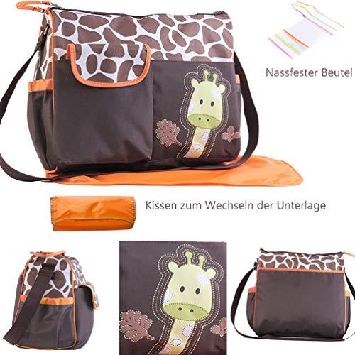 Giraffe Maskottchen - ViVseliy Baby Wickeltasche, Große Multifunktions Wickeltasche
