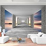 Fototapete 3D Sonnenuntergang 396 x 280 cm Vlies Wand Tapete Wohnzimmer Schlafzimmer Büro Flur Dekoration Wandbilder XXL Moderne Wanddeko - 100% MADE IN GERMANY - Runa Tapeten 9157012b