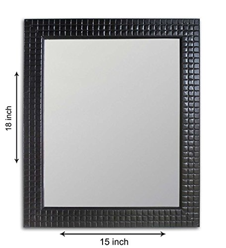Painting Mantra Bloom Textured Synthetic Wall Mirror (59.2 cm x 49.6 cm x 3.6 cm, Blue)