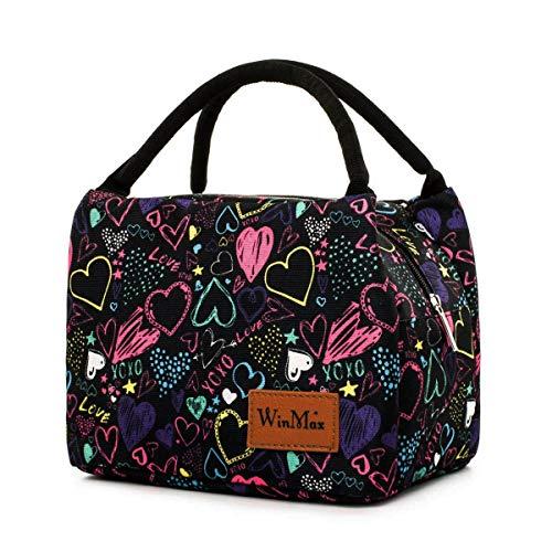 Borsetta porta pranzo termica pranzo borse borsa alimenti lunchbox per scuola e ufficio, cuore colorized