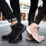 UBFEN Mens Womens Snow Boots Winter Warm Plush Booties Outdoor Sports Walking Hiking High Top Shoes 16