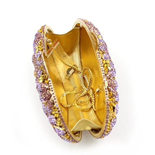 Diamond Flower Borsa Da Sera Di Lusso Delle Donne Diamante Pochette B