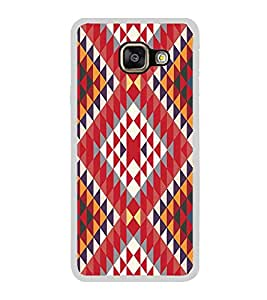 PrintVisa Designer Back Case Cover for Samsung Galaxy A3 (6) 2016 :: Samsung Galaxy A3 2016 Duos :: Samsung Galaxy A3 2016 A310F A310M A310Y :: Samsung Galaxy A3 A310 2016 Edition (Texture Pattern Zigzag Ethnic Design)