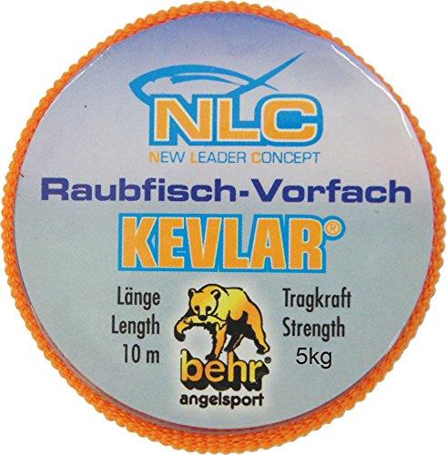 - 10m Kevlarvorfach zum Raubfischangeln, geflochtene Vorfachschnur zum Deadbaitangeln, Vorfachmaterial zum Zanderangeln, Tragkraft:5 kg ()