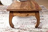 Wohnling Couchtisch Opium Massiv-Holz Sheesham 110 cm breit Wohnzimmer-Tisch Design dunkel-braun Landhaus-Stil Beistelltisch Natur-Produkt Wohnzimmermöbel modern Massivholzmöbel Echtholz rechteckig - 5