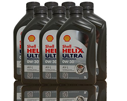 Shell Helix Ultra Professional AV l 0W30motorenöl, 7x 1liter pas cher
