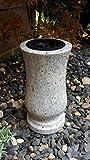 Vase aus Granit Granitvase Friedhofsvase Vase Kashmir White 29cm x 15cm Grabvase Friedhof Urnenvase