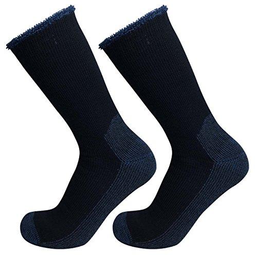 well-knitting-2-pairs-mens-merino-wool-blend-outdoor-working-hiking-crew-socks-navy-size-11-14