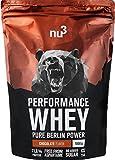 nu3 Performance Whey Strawberry, Pulver, 1kg - Voller Erdbeer-Geschmack und gute Löslichkeit bei hohem Proteingehalt
