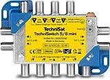 TechniSat TECHNISWITCH 5/8 MINI, Multischalter / Satverteiler für bis zu 8 Teilnehmer, 100m Entfernung überbrückbar, inkl. DOCSIS-Signal-Übertragung