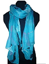 Teal hummingbird scarf Lovely soft scarf