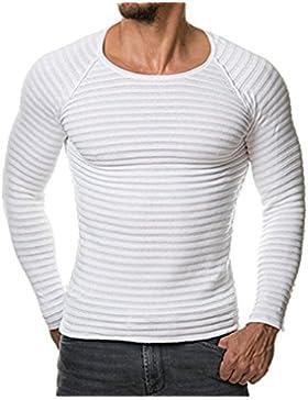 Faith Wings Uomo Felpa con Uomo casuale V-collo uomo slim maglioni cime camicetta-miscela di cotone