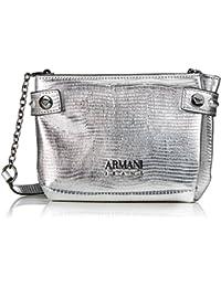 Armani Jeans Borsa Tracolla, Sacs baguette femme, Silber (Argento), 13x5x20  cm 00de5191b88