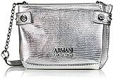 Armani Jeans Borsa Tracolla, Women's Baguette, Silber (Argento), 13x5x20 cm (B x H T)