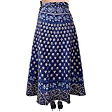 Silver Organisation Wrap-Around Long Skirt with Printed Patch-work