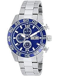 Invicta reloj infantil de cuarzo con para hombre azul esfera cronográfica y plateado correa de acero inoxidable de 21376