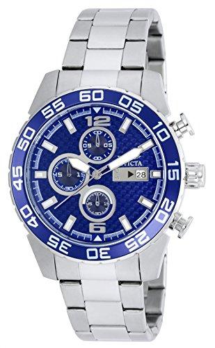 Invicta orologio da uomo cronografo al quarzo con cinturino in acciaio inox – 21376