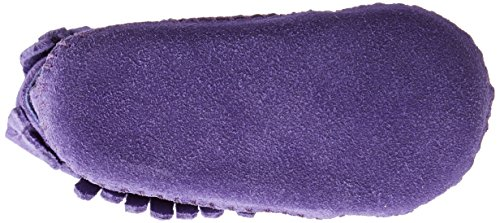 Minnetonka - Velcro Back Flap Bootie, scarpine per gattonare  per bambine e ragazze Viola (Purple)