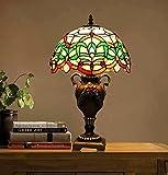 Tiffany-Stil Tischleuchte/ Retro-Schlafzimmer-Bett/Klassische Art Deco Tischlampe-A