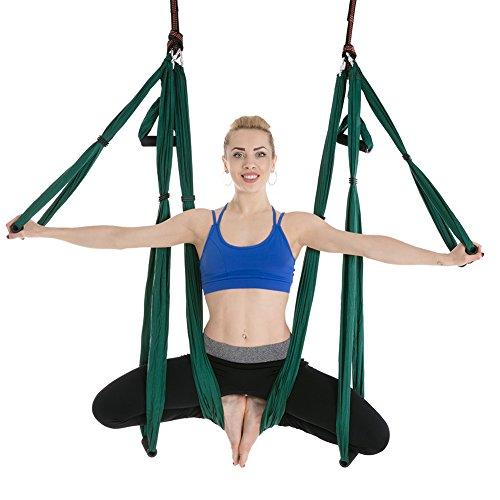 XTXWEN Hamaca de Yoga, Hamaca de Yoga aérea Multifuncional, Conjunto de Yoga de Seda aérea, Hamaca de Yoga antigravedad Duradera Segura Ultra Fuerte