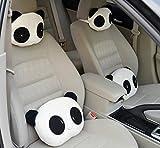 Sedeta Kreative Panda Modellierung Cars Kissen Bambus-Kissen-Auflage Nackenpolster Nackenstützen Rest-Kissen-Kissen