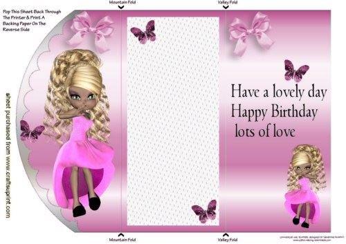 Little Lady all vestita in rosa, Tri fold otturatore di by Nick Bowley