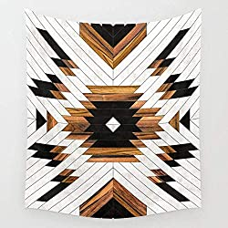 KIMIOE Tapiz Urban Tribal Pattern 5 Aztec Concrete and Wood Wall Tapestry Hanging Tapestries,Boho Mandala Tapestry,Wall Art for Bedroom Living Room Dorm 80X60 Inches