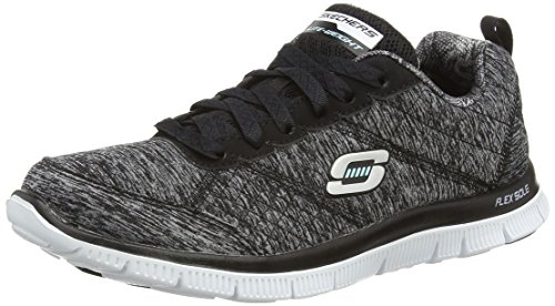 Skechers Damen Flex Appeal Pretty City Sneakers Schwarz (BKW) 38 EU -