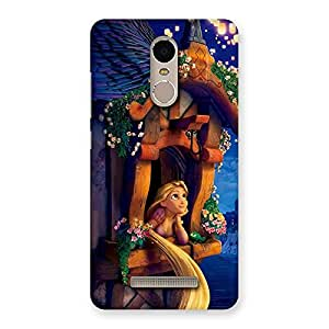 Enticing Angel Thinking Multicolor Back Case Cover for Xiaomi Redmi Note 3