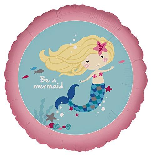Kostüm Ariel Moderne - Amscan 3779001 Folienballon Meerjungfrau