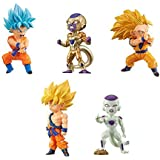 Dragon Ball Z World Collectible figures BATTLE OF SAIYANS vol.3 5 kinds set [Super Saiyan God Super Saiyan Goku / Golden freezer / Super Saiyan 3 Goku / Super Saiyan Goku / freezer]