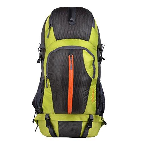 Yy.f Im Freien Bergsteigen Taschen 50L Männer Und Frauen Paar Rucksäcke Große Kapazität Rucksäcke Laptopfach. Multicolor Green