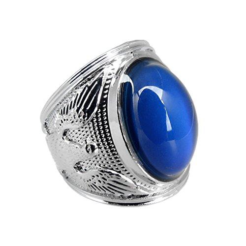 r Stimmung Ring Emotion Gefühl Farbe ändernden Edelstein Ring - Silber - 23mm (Stimmung, Wechselnde Farben)