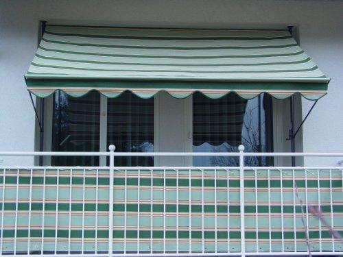 Angerer Klemmmarkise Dralon Nr. 9100, Grün, 350 cm