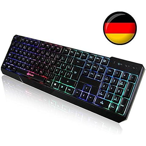 KLIM Chroma QWERTZ teclado alemán