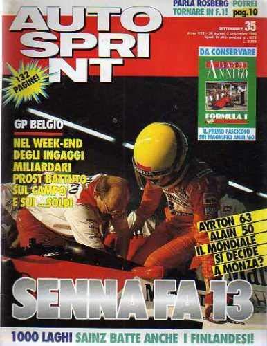 Autosprint Auto Sprint 35 Agosto Settembre 1990 Prost, Senna, Sainz
