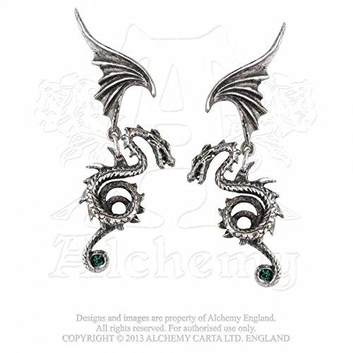 GothicJewels - Orecchini Alchemy: il Dragone Regale