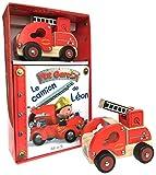 Coffret : Le camion de Léon : Contient : 1 livre, 1 camion de pompier