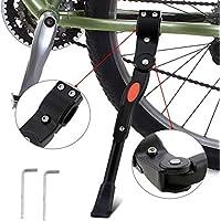 wisfox Bike Kickstand aleación de aluminio lateral de bicicleta ajustable función atril para bicicleta con oculta