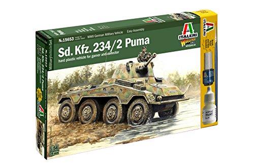 Italeri 15653 - wwii sd.kfz 234/2 puma model kit scala 1:56