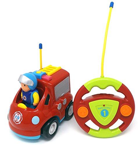 Brigamo Feuerwehr Ferngesteuertes Auto Feuerwehrauto mit Sirene und Herausnehmbare Feuerwehrmann Figur*