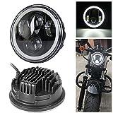 'Neue Typ 5.75 5 3/4 Zoll LED Scheinwerfer Engel Augen für Halo Harley Davidson (ein Jahr Garantie)