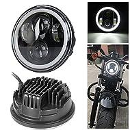 """Nuovo tipo 5.75 """"5 3/4 pollici LED auricolari angelo occhi occhi Halo per Harley Davidson   Garanzia CARATTERISTICHE:   Tipo di LED: Cree  Fascio: Hi & Lo  Alimentazione: 30W (Low Beam), 40W (High Beam) Colore Temp .: 6000-6500K  Tensione: DC 1..."""