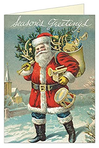 Cavallini Postkartenset Weihnachtsgrüße, vintage christmas greetings