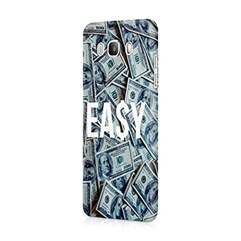Easy Money Cash Hundred Dollar Bills Plastic Snap-On Protective Case Cover For Samsung Galaxy J5 2016 Coque Housse Etui