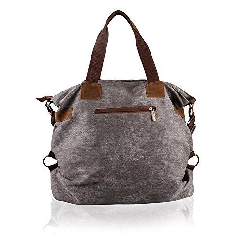 Borsa a tracolla unisex Vintage Shopper borsa zaino viaggio Canvas Shoulder Bag signore sacchetti messaggero della borsa Un colore